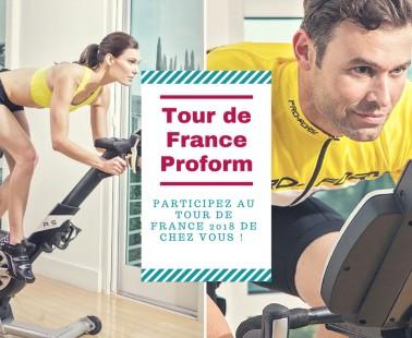 Participez de chez vous à la grande boucle 2018 sur le vélo biking Proform Tour de France !