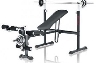 S'entraîner avec un banc de musculation
